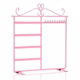 China Iron 48 Holes 10 Hooks Earrings Necklace Holder Bracelet Jewelry Display Stand Pendant Car Accessories Keychain Storage Rack suppliers