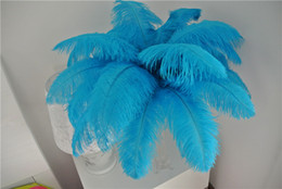 wholesale party decoration turquoise NZ - wholesale 100pcs lot 12-14inch Ostrich Feather Plume TURQUOISE for Wedding decor wedding centerpiece party event decor