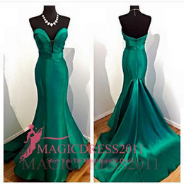 Celebrity Occasions Dresses Canada - Outstanding Green Prom Dresses Backless Formal Evening Gowns 2016 Special Occasion Dress Mermaid Sweetheart Ruffled Party Celebrity Cheap