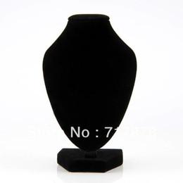 5 Pièces / Lot Livraison Gratuite Noir Velours Collier Pendentif Chaîne Lien Bijoux Buste Cou Affichage Support Stand en Solde