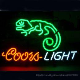"$enCountryForm.capitalKeyWord Canada - Coors Light Chameleon Beer Bar Open Neon Sign Pub Store KTV Disco Club Display Custom Handcrafted Neon Light Sign 17""X14"""