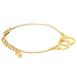gold handcuff charms NZ - Lucky Jewelry Friendship Gold plated hamsa handcuffs charm bracelet