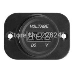 Chinese  Wholesale-Car Truck Motorcycle DC Voltmeter Voltage Meter LED Digital Display 4-26V manufacturers