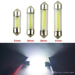 Ingrosso Di alta qualità 10x C5W ha condotto il festone della lampadina 31mm 36mm 39mm 41mm SMD COB Illuminazione interna dell'automobile 40MA LED dell'automobile luci 12V 6000K Lampada bianca per auto