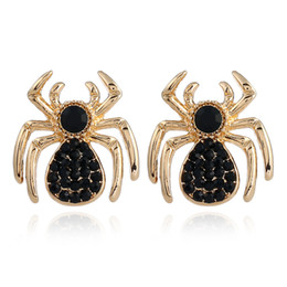 free christmas gifts for children UK - New Hot Fashion Xmas Insect Crystal spider Jewelry Accessories Earrings Pendant Earrings for Women's  children  girl Gift Free Shipping