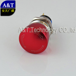 Make Switches Canada - Custom-made Red color metal anti vandal mushroom head emergency stop push button ,Push off turn to reset on postion switch