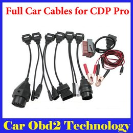 Cdp Pro For Cars NZ - [10pcs lot] Wholesale Full Set 8pcs Car Cables For TCS CDP Pro OBD2 Cables For Multi-brand Cars With DHL EMS Free Shipping