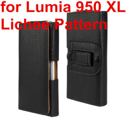 Leather Belt Holster Case NZ - Wholesale Newest Waist Case Holster PU Leather Belt Clip Pouch Cover Case For Microsoft Lumia 950 XL For Nokia Lumia 950 XL Phone Bag Free