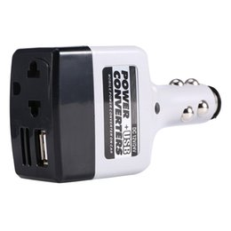 12v Powered Usb Adapter NZ - Wholesale- B35 Car Mobile Converter Inverter Adapter DC 12V 24V to AC 220V Charger Power + USB Vehicle Converters 2016