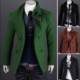 Discount Mens Dark Green Coat | 2017 Mens Dark Green Coat on Sale ...