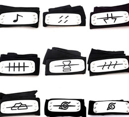 Discount free naruto costumes PrettyBaby naruto headband leaf village logo Konoha Kakashi Akatsuki Members metal Headband Cosplay Costume Accessories
