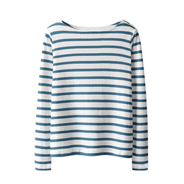 winter t shirts long neck UK - Spring Winter Autumn 2017 Long Sleeve Striped Undershirt Women Top Sexy Female Cotton T Shirt O-neck Casual Tee Shirt