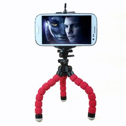 Wholesale-Car Phone Holder Flexible Octopus Tripod Bracket Selfie Stand Mount Monopod Styling Accessories For Mobile Phone  Camera