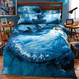 princess print bedding set 2019 - 100%cotton cinderella and princess bed linen,3 4 pcs kids bedding set with duvet cover bed sheet pillowcase king queen t
