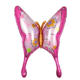 China Wholesale- 1 PC 39 Inch Large Butterfly Foil Balloons Pink Helium Balloon Happy Birthday Party Wedding Decoration Balls Kids Baby Gift supplier happy birthday day suppliers