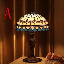 Shop vintage stained glass table lamp uk vintage stained glass popular vintage table lamps retro garden style glass table lamp creative bedside lamp creative study room cafe bar lamps aloadofball Image collections