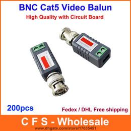 Camera CCtv bnC video balun online shopping - 200pcs Coax CAT5 Camera CCTV Passive BNC Video Balun to UTP Transceiver Connector DHL Fedex