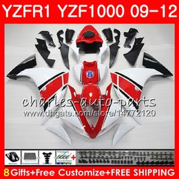 r1 11 Canada - Bodywork For YAMAHA YZF 1000 R 1 YZF-1000 YZF-R1 09 12 Body white red 85NO21 YZF1000 YZFR1 09 10 11 12 YZF R1 2009 2010 2011 2012 Fairing