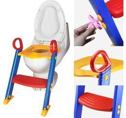 Baby Toddler Potty Entrenamiento Escalera de inodoro Pasos de asiento Seguridad Loo para niños Silla / Niños Silla de inodoro silla en venta