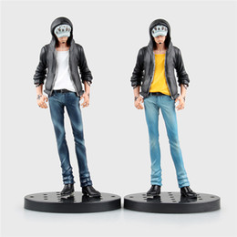 Anime Law Figures Canada - Suzannetoyland Anime One Piece The Surgeon of Death Trafalgar Law Jeans Freak PVC Action Figure Collectible Model Toys Doll 18cm