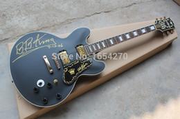 Großhandel Freies verschiffen 2016 neue BB-KING solide matt schwarz e-gitarre modelle gedenkmodelle gitarre 151022