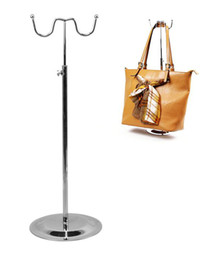 $enCountryForm.capitalKeyWord NZ - 2pcs New Promotion Multifunction handbag display stand fashion w-type women wig display rack adjustable bags purse hat silk scarf Clothing