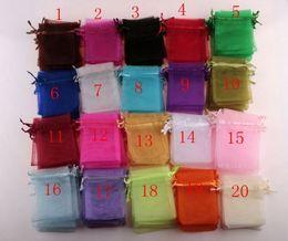 White organza bags draWstring online shopping - Hot Sales white Etc color Organza Gift Bags x9cm x12cm x18 cm With Drawstring