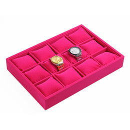 Wholesale jewelry displays Quality velvet Booths Pillow Bracelet Bangle Watch Organizer Storage Stand Holder Tray
