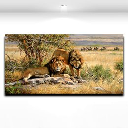 $enCountryForm.capitalKeyWord Canada - Wild King Lion Animal Oil Painting Printed on Canvas Modern Mural Art Picture for Home Living Hotel Office Wall Dceor