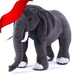 elephants baby 2018 - Dorimytrader Hot New 80cm Super Soft Plush Cute Stuffed Large Animal Elephant Toy Nice Birthday Gift For Baby 31inch Fre