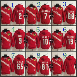 Bobby Hull Blackhawks Jersey Canada - 2016 New, women Chicago Blackhawks jersey hoody KEITH jerseys #7 brent seabrook #9 bobby hull #2 Embroidery warm hoodie