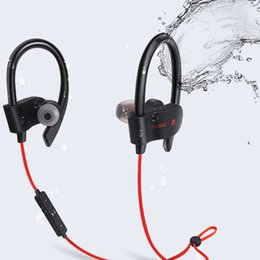 White Wire hot online shopping - Hot sale S Wireless Bluetooth Earphones Waterproof IPX5 Headphone Sport Running Headset Stereo Bass Earbuds Handsfree With Mic