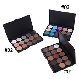 Chinese  Professional Lady Women 15 Color Makeup Eyeshadow Camouflage Facial Concealer Palette Eye Shadow 3 Colors manufacturers