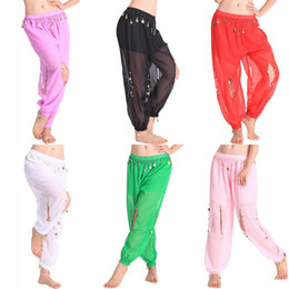 Pantalons De Danse Harem Sequin Pas Cher-Belly Dance Costume Shinny Cion Sequin Balloon Bloomers pantalon Sarouels Vêtements