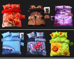 Venta al por mayor de Al por mayor - Lujo Tiger Tiger 3d juego de cama reina de gran tamaño 100% algodón 4pcs edredón / edredón cubre ropa de cama de la cama ropa de cama.