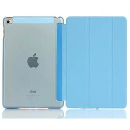 Plastic Bundle NZ - Magnetic Front Smart Cover + Back Plastic Case for iPad mini Air 2 3 4 Pro 9.7 10.5 Folding Clear Cases