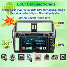 Car Toyota Prado Canada - Car dvd Multimedia radio android player for Toyota Prado 2014,autoradio CD, gps navigation,Pure android 4.4.4, Quad Core