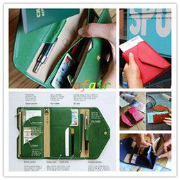 $enCountryForm.capitalKeyWord Canada - Multifunction Crown Short Style Folding Passports Wallet Ultrathin Flip PU Soft leather Coin Bag Unisex travel document holder ID Card bags