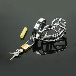 male sm gear UK - Metal Male Chastity Device Cock Cage Male Chastity Belt Bondage Gear For Men Penis Ring Stainless Steel BDSM Chastity Cage Sex Toys SM