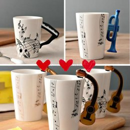 $enCountryForm.capitalKeyWord Canada - Ceramic Cup Guitar mug Creative Print Flute Piano Coffee Mugs Home Office Drinkware 14 Types 300ml 2018 New Designs
