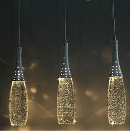Luces pendientes cristalinas modernas de la burbuja del envío libre con las bombillas de G4 - sombra artística Droplight cabezas individuales iluminación de la lámpara en venta