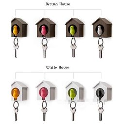 $enCountryForm.capitalKeyWord Canada - Best HOT 20pc Bird Nest Sparrow House Key Chain Ring Chain Wall Hook Holders Plastic Whistle christmas gift top quality E451L