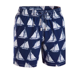 red white blue swimsuit men UK - Wholesale-Men's Shorts Brand Casual Beach Surf Sport Boxer Trunks Men Boardshorts Swimwear Swimsuits Board Shorts Pants Quick Dry Bermuda