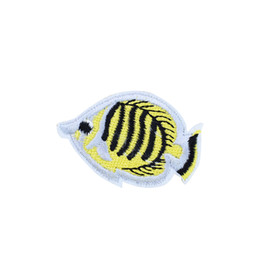 wholesale tropical fish bags UK - 10PCS Tropical Fish Patches for Clothing Bags Iron on Transfer Applique Patch for Jeans Sew on Embroidery Patch DIY