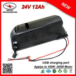port bottles Australia - New Bottle Dolphin Case 350W E-Bike Battery 24V 12Ah Lithium 24V Bateria Litio 24V with 2A Charger 15A BMS USB Port