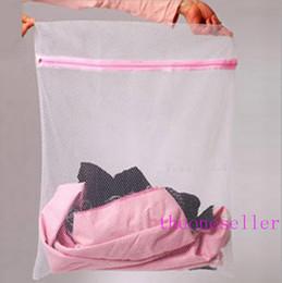 Laundry Basket Nylon Canada - S M L Clothes Washing Machine Laundry Bra Aid Lingerie Mesh Net Wash Bag Pouch Basket