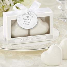 $enCountryForm.capitalKeyWord Canada - A Dash of Love Ceramic Heart Salt & Pepper Shakers wedding favors baby shower birthday give giveaway accessories centerpieces 1203#03