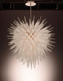 Glass livinG room furniture online shopping - Mouth Blown Borosilicate Murano Glass Art Chandelier Pendant Lighting Famous Lighting Glass Craft Vintage Furniture