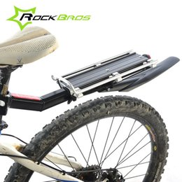 $enCountryForm.capitalKeyWord Canada - RockBros Disc Brake V Brake Aluminum Rack Bike Bicycle Rear Rack Carry Carrier Seatpost Mount Quick Release with Fender Design