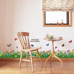 Baseboard Stickers Canada - 10pcs Distribution supply AM5005 [grass] new specifications baseboard factory direct Wall Stickers